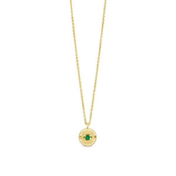 Sierra Winter Jewelry Evil Eye Necklace - Gold Vermeil/Emerald