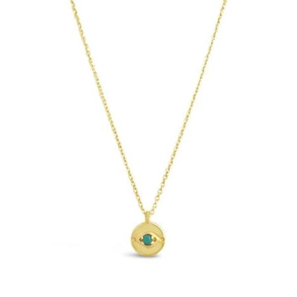 Sierra Winter Jewelry Evil Eye Necklace - Gold Vermeil/Turquoise