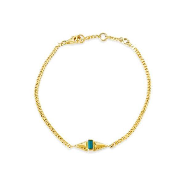Sierra Winter Jewelry Femme Bracelet - Gold Vermeil/Turquoise