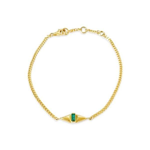 Sierra Winter Jewelry Femme Bracelet - Gold Vermeil/Emerald