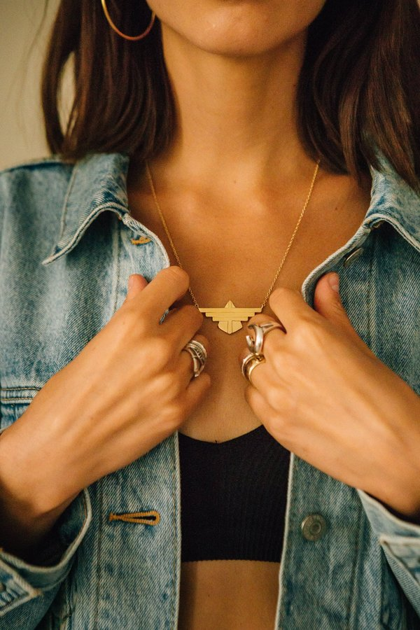 Sierra Winter Jewelry Freebird Necklace - Gold Vermeil