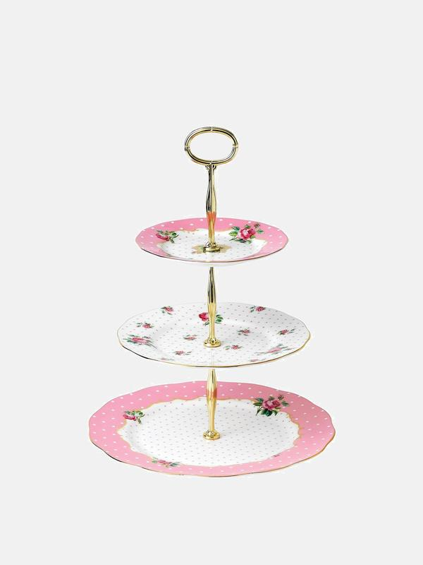 Cheeky Pink Vintage 3-Tier Cake Stand