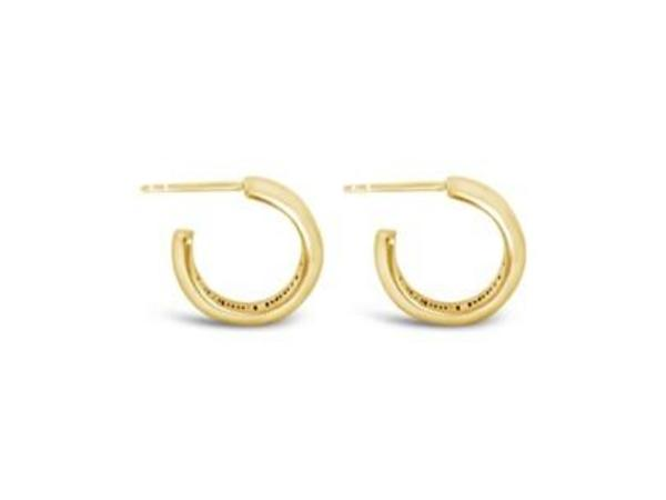 Sierra Winter Jewelry Good Lookin' Hoop Earrings - Gold Vermeil