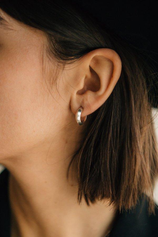 Sierra Winter Jewelry Good Lookin' Hoop Earrings - Sterling Silver