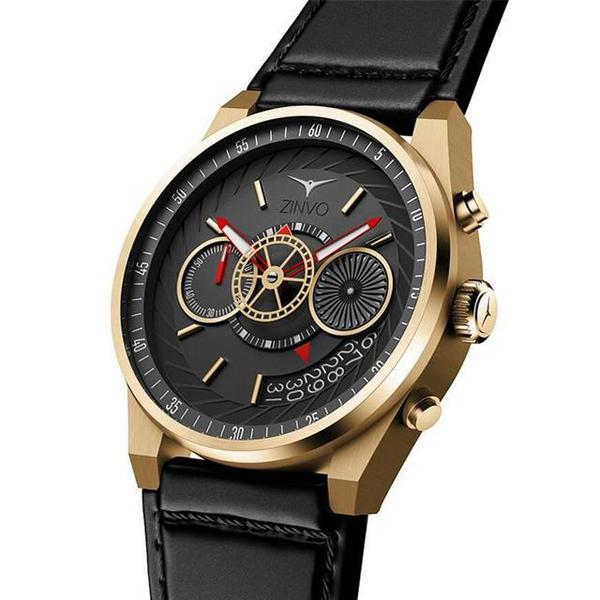 Zinvo Chrono Watch - Gold Plated