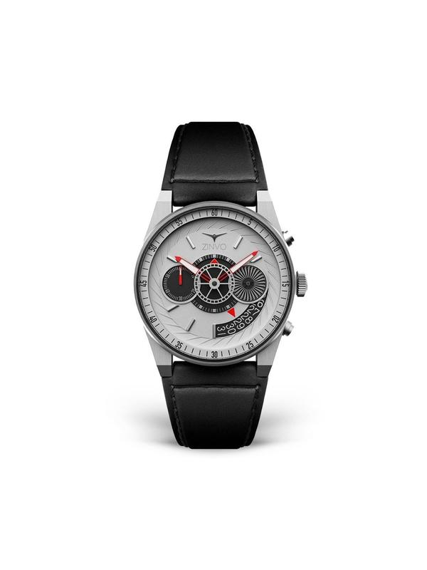 Zinvo Chrono Watch - Brushed Silver