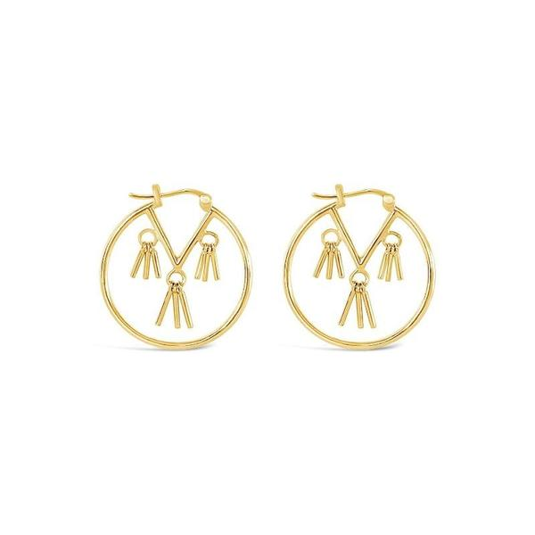 Sierra Winter Jewelry Honky Tonk Hoop Earrings - Gold Vermeil