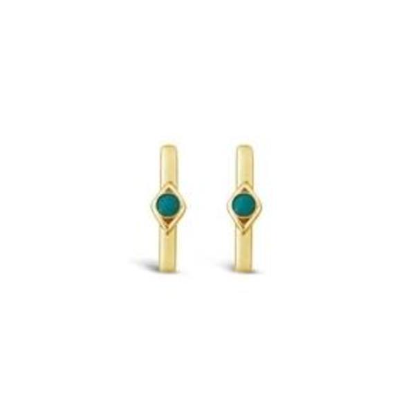 Sierra Winter Jewelry Horizon Earrings - Gold Vermeil/Turquoise