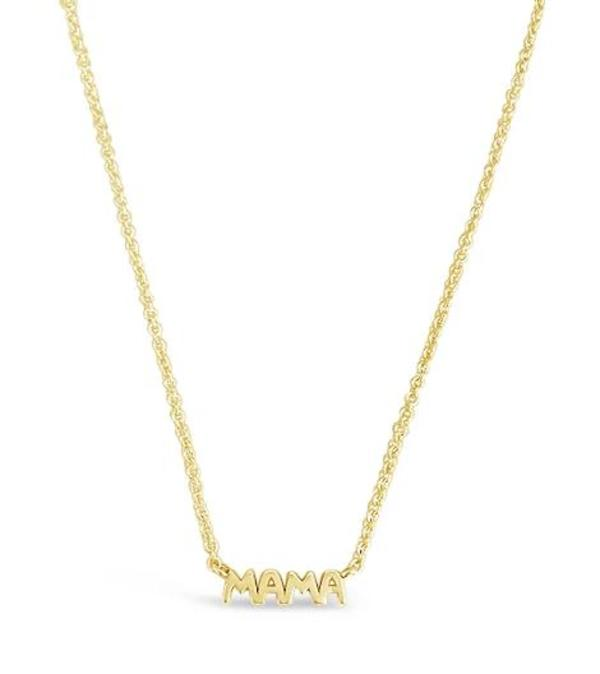Mama Necklace // 14K Gold
