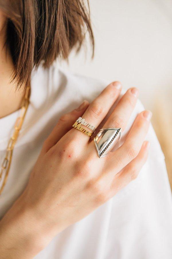 Sierra Winter Jewelry Mama Ring - Gold Vermeil