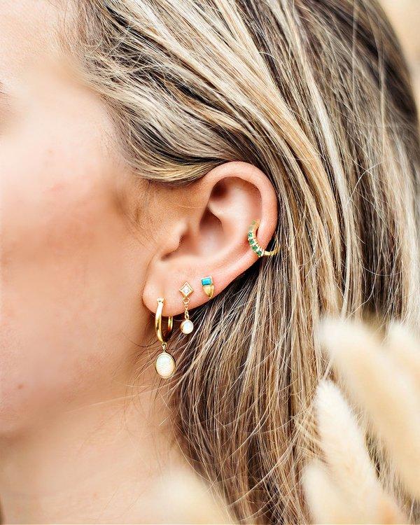 Sierra Winter Jewelry Moonflower Earrings - Gold Vermeil/Opal
