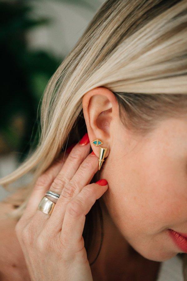 Sierra Winter Jewelry Scout Earrings - Gold Vermeil/Genuine Turquoise