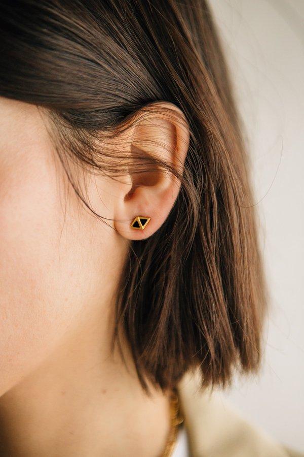 Sierra Winter Jewelry Scout Earrings - Gold Vermeil/Black Onyx