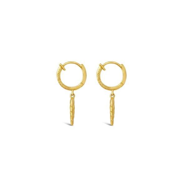 Sierra Winter Jewelry Stay Golden Hoop Earrings - Gold Vermeil