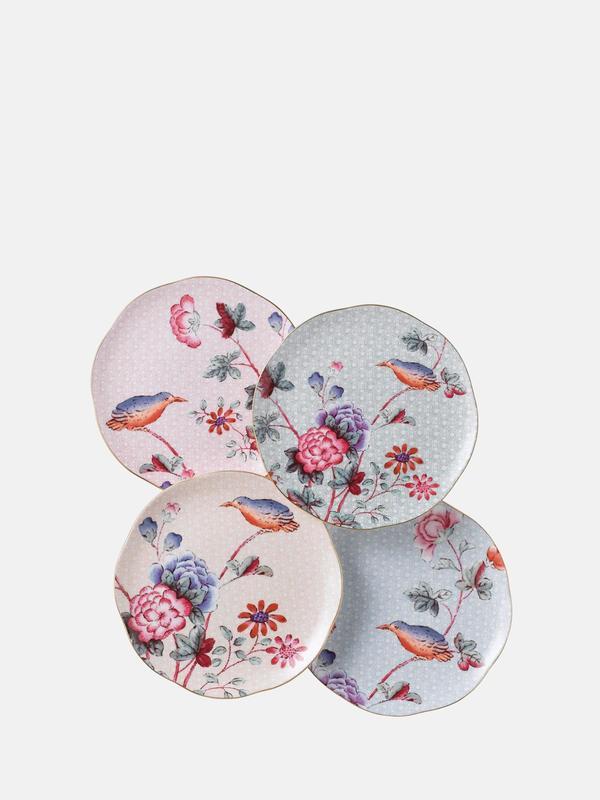 Cuckoo Tea Plates, Set Of 4