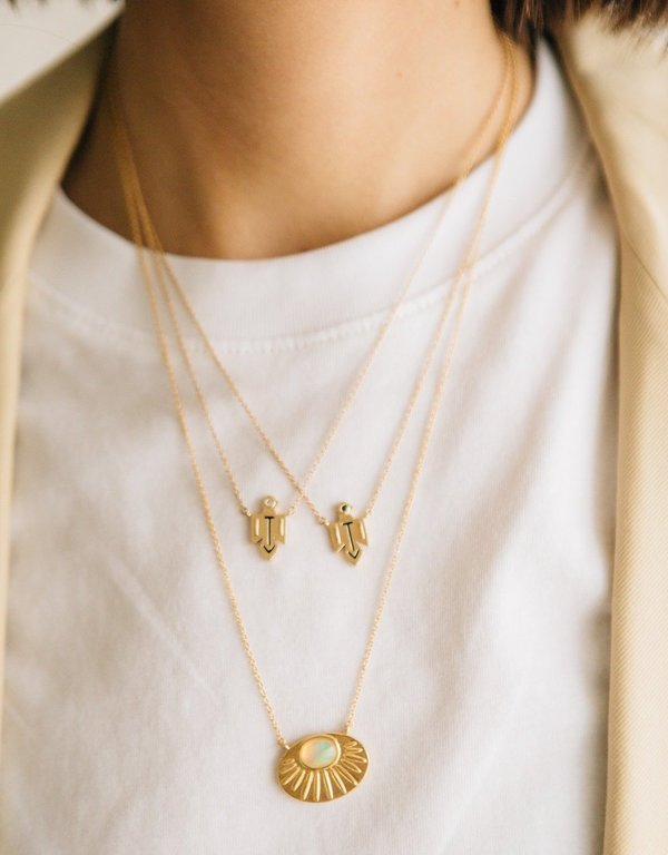 Sierra Winter Jewelry Thunderbird Necklace - Gold Vermeil/Diamond