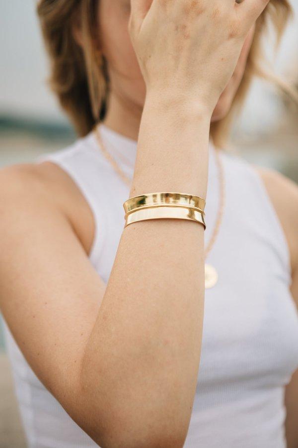 Sierra Winter Jewelry Warrior Bracelet - Gold Vermeil