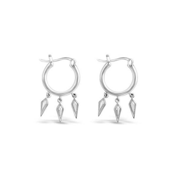 Sierra Winter Jewelry Wildfire Hoop Earrings - Sterling Silver