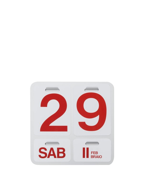 Formosa Calendar_English_Natural Anodized_Red