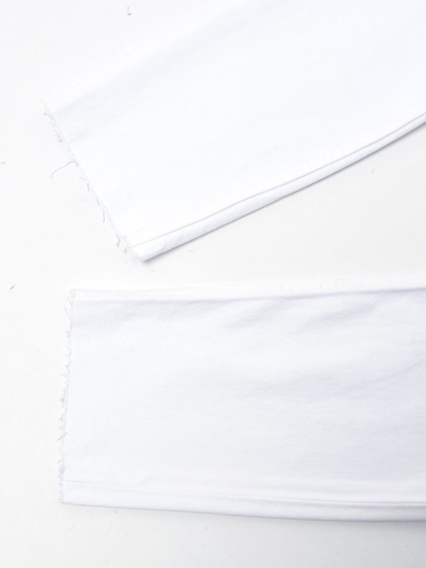 HIGH RISE ANKLE CROP _ WHITE