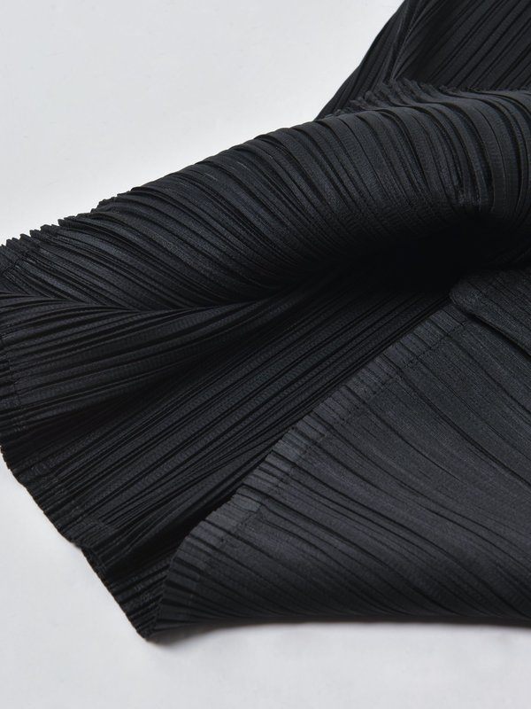 Pleats Please by Issey Miyake TURTLENECK DRESS - BLACK