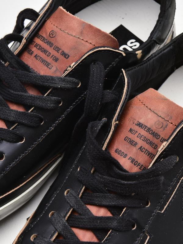 M_SNEAKERS SUPERSTAR_BRUSHED BLACK-CUOIO