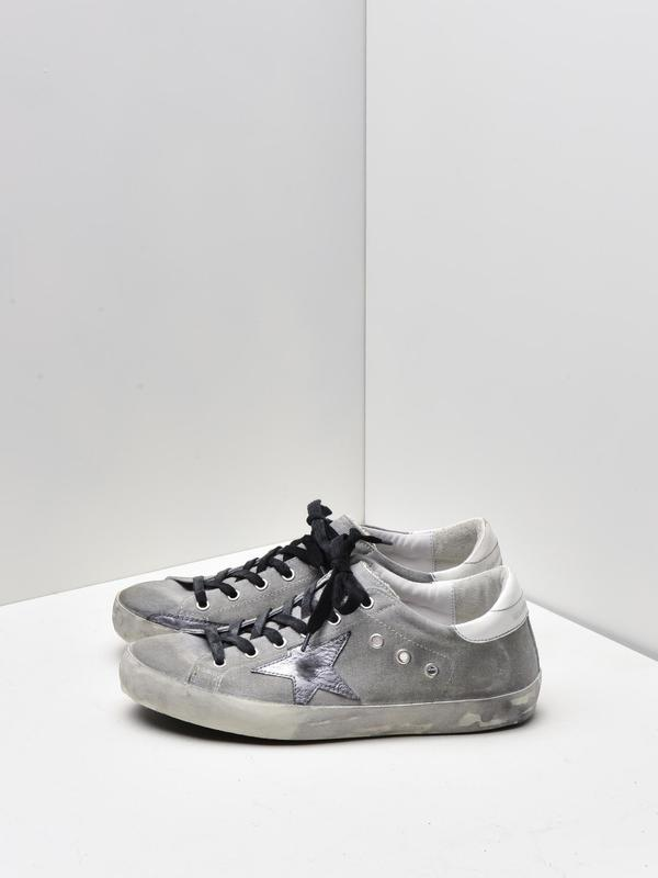 M_SNEAKERS SUPERSTAR_GREY DRILL-SILVER STAR