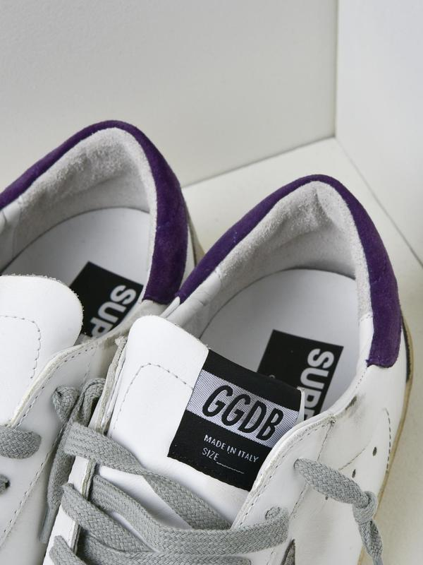 M_SNEAKERS SUPERSTAR_WHITE LEATHER-PLUM