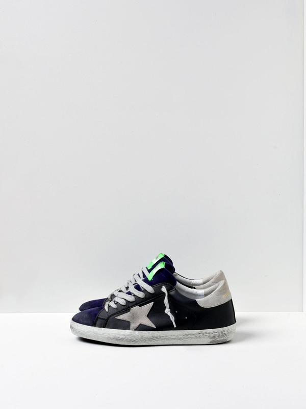 M_SNEAKERS SUPERSTAR_WHITE LTH GREEN SUEDE STAR