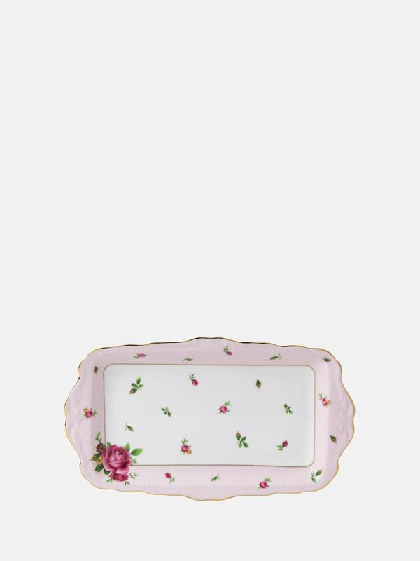 New Country Roses Pink Vintage Sandwich Tray