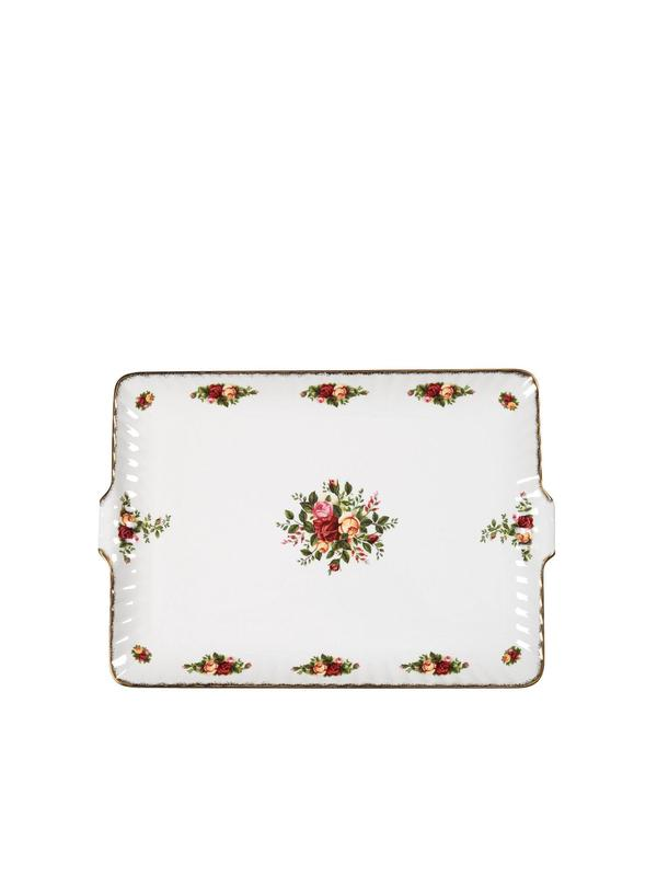 Old Country Roses Fluted Serving Tray