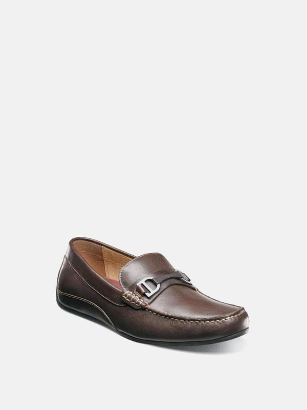 Florsheim OVAL MOC TOE BIT DRIVER shoes - BROWN