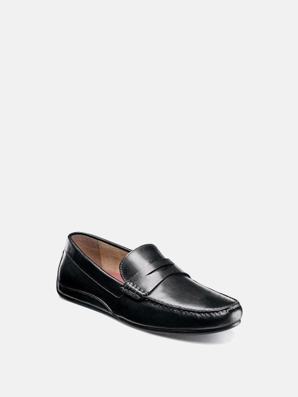 Florsheim OVAL MOC TOE PENNY DRIVER shoes - BLACK SMOOTH