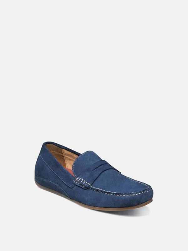 Florsheim OVAL MOC TOE PENNY DRIVER shoes - BLUE SUEDE