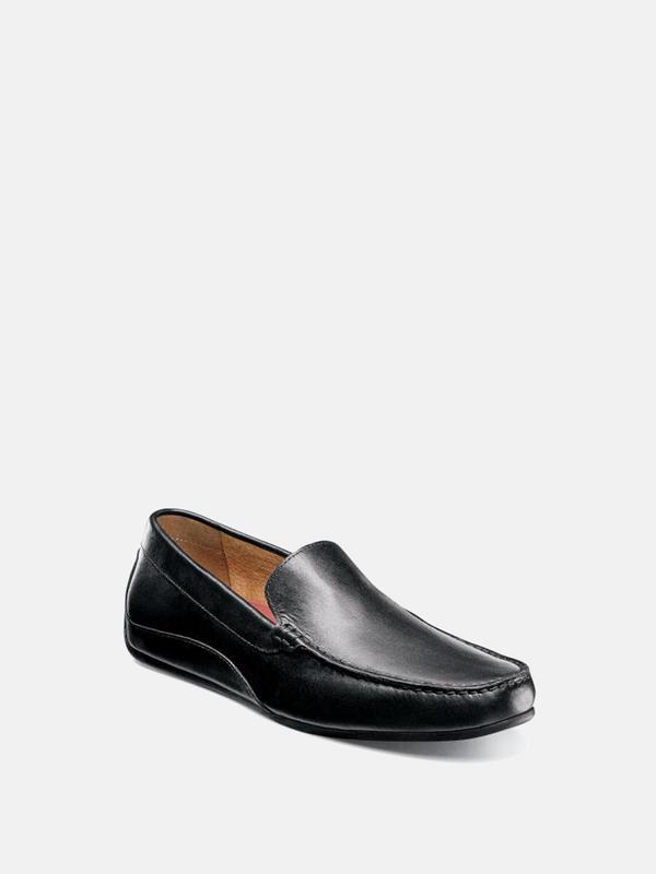 Florsheim OVAL MOC TOE VENETIAN DRIVER shoes - black