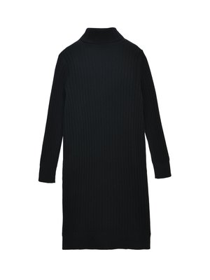 Unisex PURECASHMERE NYC Rib Turtleneck Dress - Black