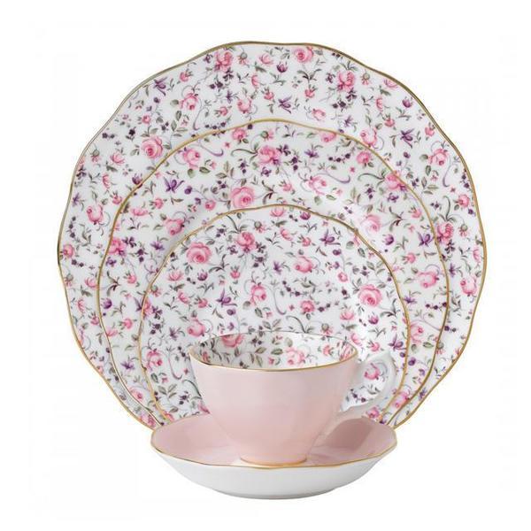 Rose Confetti Vintage 5-Piece Place Setting