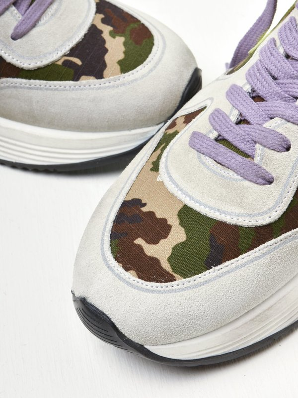RUNNING SOLE CAMOUFLAGE LEATHER STAR SIGNATURESOLE