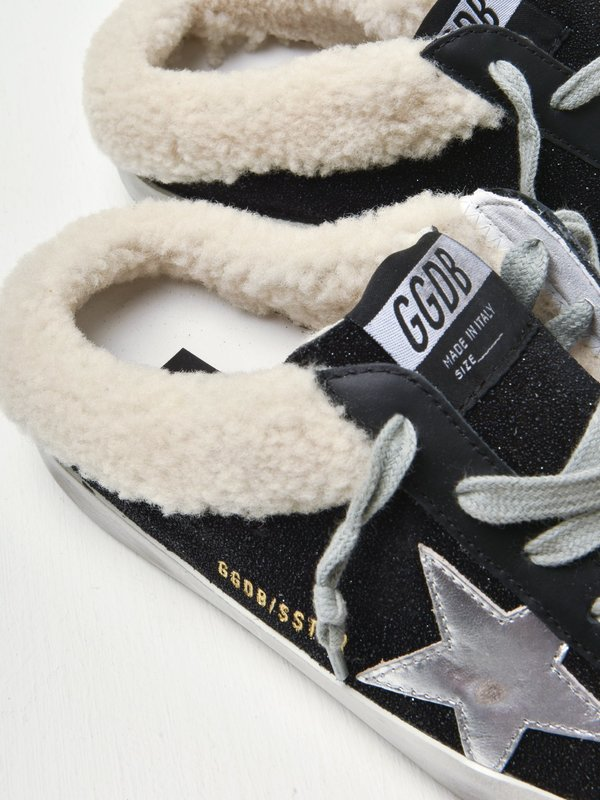SABOT SUEDE UPPER SHEARLING TONGUE LAMINATED STAR