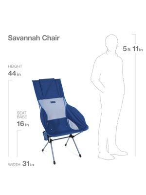 SAVANNA CHAIR _ BLUE BLOCK_set of 2
