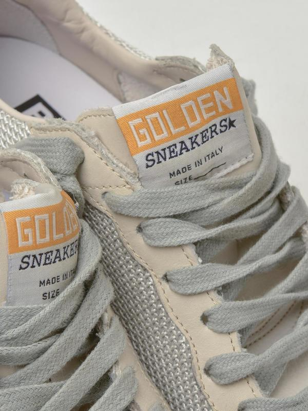 SNEAKERS BALL STAR_WHITE GOLD METAL LETTERING