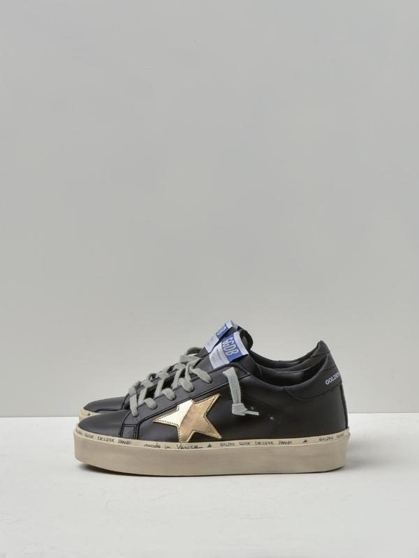 SNEAKERS HI STAR_BLACK GOLD LEATHER STAR