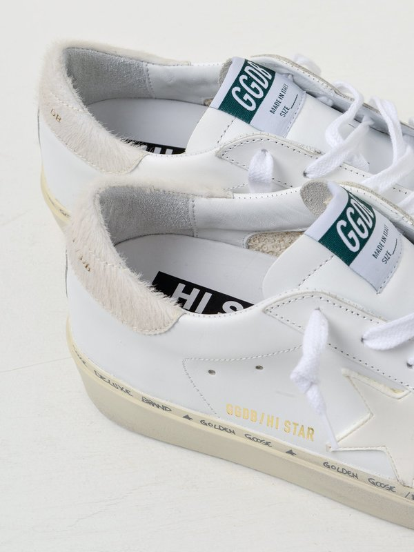 SNEAKERS HI STAR_WHITE LEATHER CARVED STAR