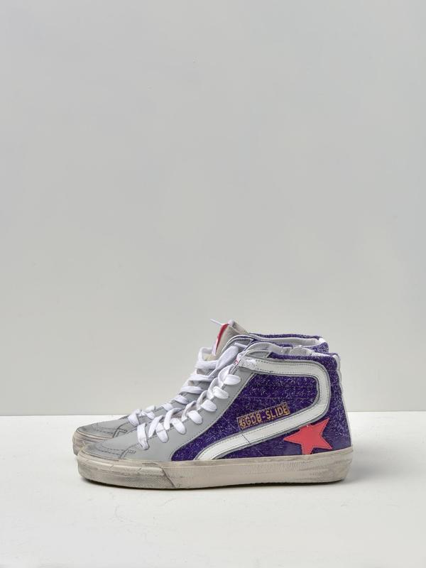 SNEAKERS SLIDE_VIOLET SUEDE-STRAWBERRY STAR