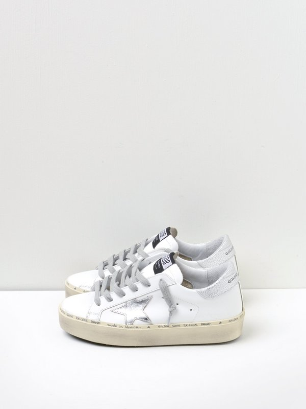 SNEAKERS SUPERSTAR WHITE LEATHER-SHINY STAR