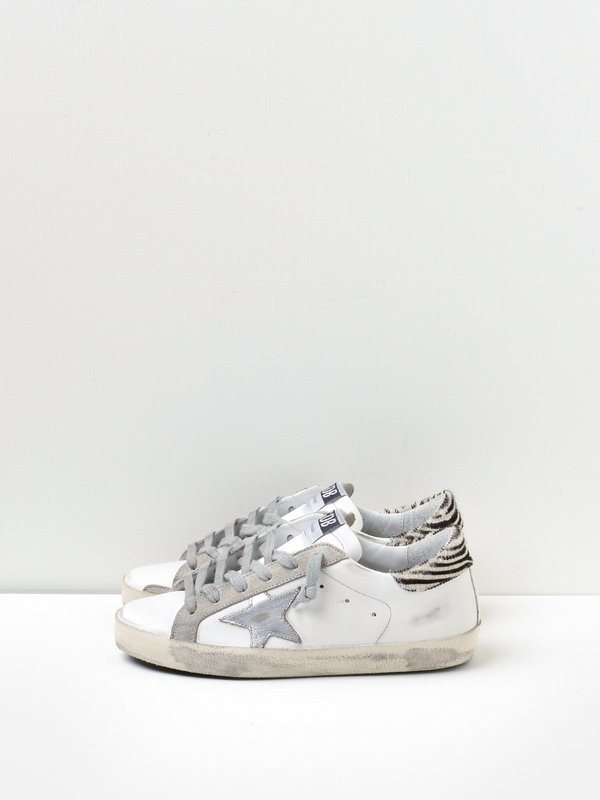 SNEAKERS SUPERSTAR WHITE METAL SILVER -PONY ZIGER