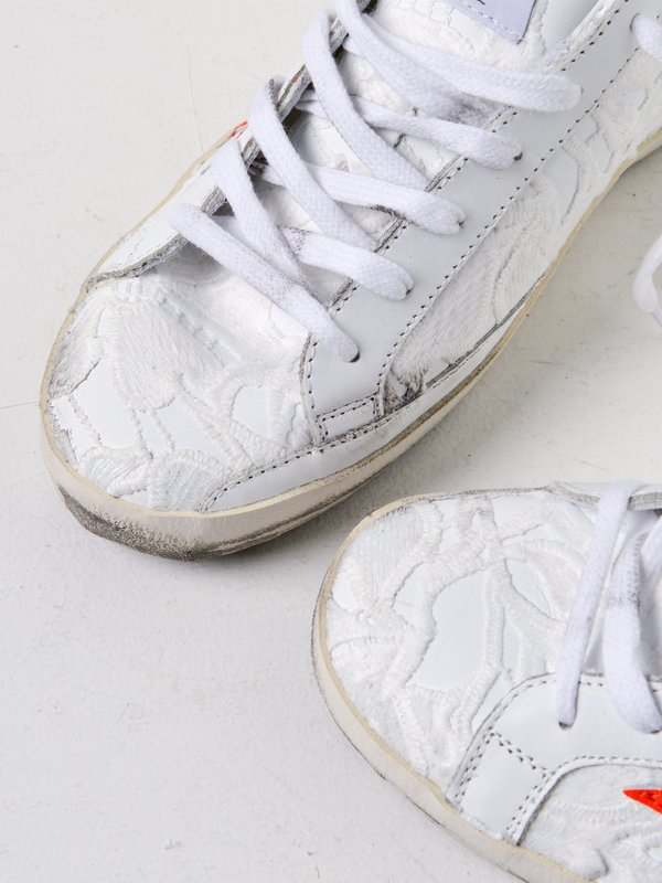 SNEAKERS SUPERSTAR _WHITE LACE ORANGE FLUO STAR