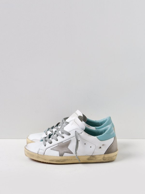 SNEAKERS SUPERSTAR _WHITE LEATHER FRESH MINT CREAM