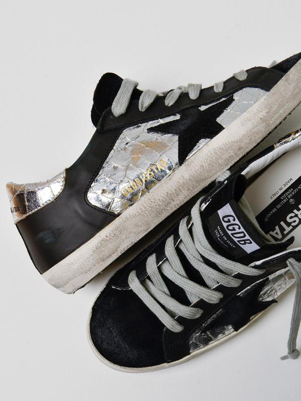 SNEAKERS SUPERSTAR_SILVER COCCO BLACK STAR