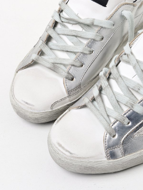 SNEAKERS SUPERSTAR_SILVER LEATHER-COW PONY
